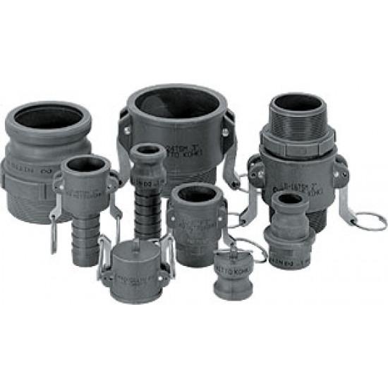 БРС аналог камлок для газов и жидкостей Lever Lock Cupla (пластик)