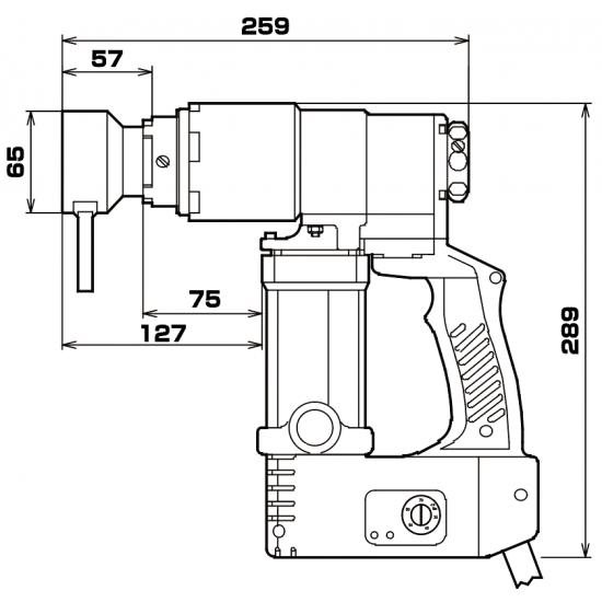Электрический моментный гайковерт 115/230В Диапазон крутящего момента 350-700Нм Головки AF24, AF27, AF30, AF30, AF32, AF36, AF41