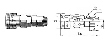 Гнездо (socket), быстроразъемные соединения, БРС, Cupla, Rotary Nut Cupla, пневматика, Энерпром-Микуни,