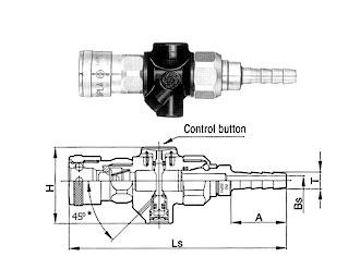 Duster Cupla - схема, быстроразъемные соединения, БРС, Cupla, пневматика, Энерпром-Микуни