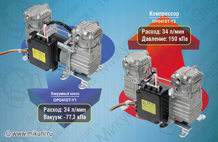 Особенности вакуумных насосов и компрессоров Nitto Kohki DP0410T