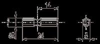 Тип биты для бесщеточных винтовертов серии DLV30