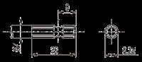 Тип биты для бесщеточных винтовертов серии DLV45/DLV70